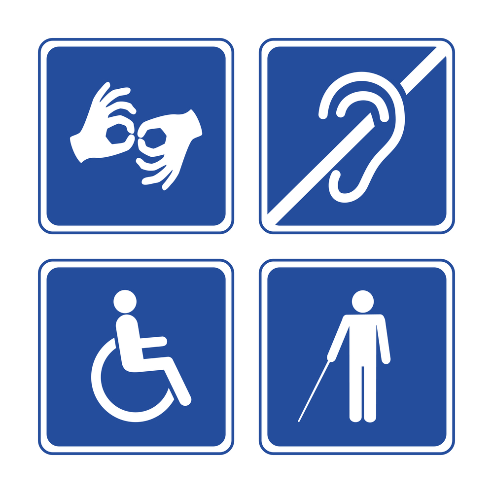 signs for persons with disabilities